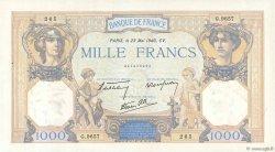1000 Francs CÉRÈS ET MERCURE type modifié FRANCE  1940 F.38.47 SPL