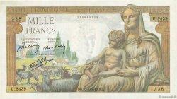 1000 Francs DÉESSE DÉMÉTER FRANCE  1943 F.40.38 SUP
