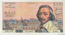 1000 Francs RICHELIEU FRANCE  1954 F.42.06 pr.NEUF