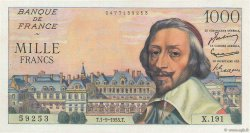 1000 Francs RICHELIEU FRANCE  1955 F.42.15 NEUF