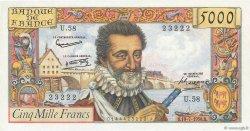 5000 Francs HENRI IV FRANCE  1958 F.49.07 NEUF