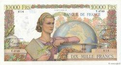 10000 Francs GÉNIE FRANÇAIS FRANCE  1953 F.50.65 SUP+