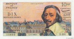 10 Nouveaux Francs RICHELIEU FRANCE  1962 F.57.20 NEUF