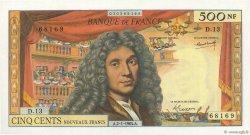 500 Nouveaux Francs MOLIÈRE FRANCE  1964 F.60.06 SPL