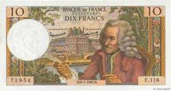 10 Francs VOLTAIRE FRANCE  1965 F.62.12 pr.SPL