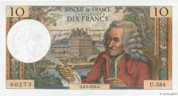 10 Francs VOLTAIRE FRANCE  1970 F.62.44 NEUF