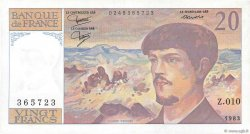 20 Francs DEBUSSY FRANCE  1983 F.66.04 SPL