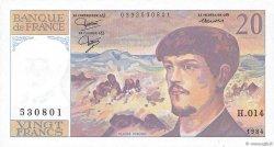 20 Francs DEBUSSY FRANCE  1984 F.66.05 NEUF
