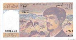 20 Francs DEBUSSY FRANCE  1988 F.66.09