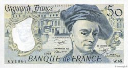 50 Francs QUENTIN DE LA TOUR FRANCE  1986 F.67.12 SPL
