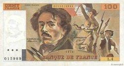 100 Francs DELACROIX FRANCE  1978 F.68.04 TB+