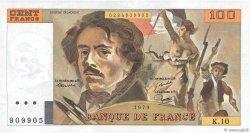 100 Francs DELACROIX modifié FRANCE  1979 F.69.02a SUP+