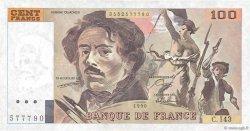100 Francs DELACROIX imprimé en continu FRANCE  1990 F.69bis.01b3 SUP