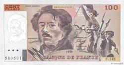 100 Francs DELACROIX imprimé en continu FRANCE  1990 F.69bis.01b7 SUP+