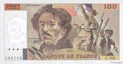 100 Francs DELACROIX imprimé en continu FRANCE  1990 F.69bis.02b NEUF