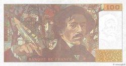 100 Francs DELACROIX imprimé en continu FRANCE  1990 F.69bis.02d SUP