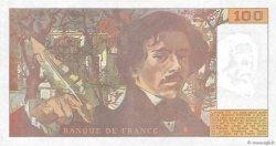 100 Francs DELACROIX imprimé en continu FRANCE  1990 F.69bis.02d SPL