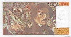 100 Francs DELACROIX imprimé en continu FRANCE  1990 F.69bis.02e1 SPL+