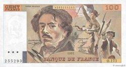 100 Francs DELACROIX imprimé en continu FRANCE  1991 F.69bis.03a3 pr.NEUF