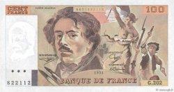 100 Francs DELACROIX imprimé en continu FRANCE  1991 F.69bis.03c1 NEUF