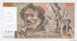 100 Francs DELACROIX imprimé en continu FRANCE  1991 F.69bis.04c NEUF
