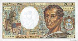 200 Francs MONTESQUIEU FRANCE  1982 F.70.02 NEUF