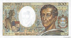 200 Francs MONTESQUIEU FRANCE  1985 F.70.05 NEUF