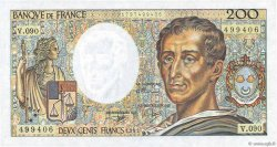 200 Francs MONTESQUIEU FRANCE  1991 F.70.11 NEUF