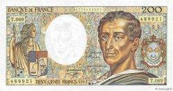 200 Francs MONTESQUIEU UNIFACE FRANCE  1991 F.70u.04 pr.NEUF