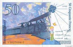 50 Francs SAINT-EXUPÉRY mouton en haut FRANCE  1992 F.72bis.01var SUP
