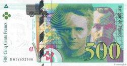 500 Francs PIERRE ET MARIE CURIE symbole en haut FRANCE  1994 F.76bis.01var pr.NEUF