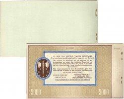 Carnet 5  x 5000 Francs Bon  de Solidarité FRANCE régionalisme et divers  1941 - SUP