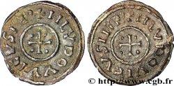 LOUIS Ier LE PIEUX OU LE DÉBONNAIRE Obole à la légende chrétienne avec le nom de l'empereur au droit et au revers