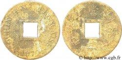 FRENCH COCHINCHINA 1 Sapèque (2/1000 de Piastre) 1879 PARIS VG