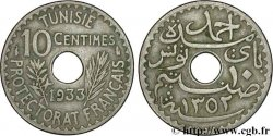 TUNISIA - French protectorate 10 Centimes AH 1352 1933 Paris XF