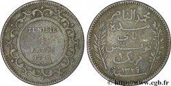 TUNISIA - FRENCH PROTECTORATE 1 Franc AH1329 1911 Paris VF