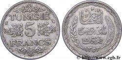 TUNISIE - PROTECTORAT FRANÇAIS 5 Francs AH 1353 1934 Paris TTB