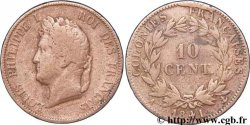 FRENCH COLONIES - Louis-Philippe for Guadeloupe 10 Centimes 1841 Paris F