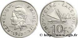 NOUVELLE CALÉDONIE Essai de 10 Francs Marianne / voilier 1967 Paris
