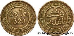 MOROCCO 5 Mazounas Abdul Aziz an 1320 1902 Birmingham XF