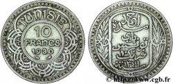 TUNISIA - French protectorate 10 Francs au nom du Bey Ahmed datée 1349 1930 Paris VF