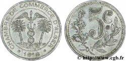 ALGERIEN 5 Centimes Chambre de Commerce d'Alger caducéee netre deux palmiers 1916  fVZ