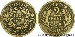 TUNISIE - PROTECTORAT FRANÇAIS Bon pour 2 Francs sans le nom du Bey AH1340 1921 Paris TB
