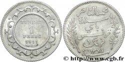 TUNISIA - FRENCH PROTECTORATE 1 Franc AH 1329 1911 Paris AU