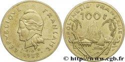 POLYNÉSIE FRANÇAISE 100 Francs I.E.O.M. Marianne / paysage polynésien type IEOM 1982 Paris TTB+