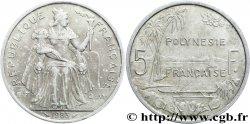 FRENCH POLYNESIA 5 Francs I.E.O.M. Polynésie Française 1983 Paris aVF
