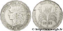 GUADELOUPE Bon pour 1 Franc indien caraïbe / canne à sucre 1921  XF