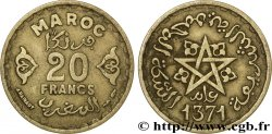 MOROCCO - FRENCH PROTECTORATE 20 Francs AH1371 1952 Paris XF