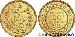 TUNESIEN - Französische Protektorate 20 Francs or Bey Ali AH1308 1891 Paris VZ