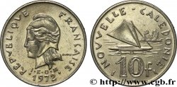 NUOVA CALEDONIA 10 Francs IEOM Marianne / voilier traditionnel 1972 Paris